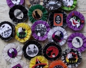 20 Bewitching  Halloween Crepe paper medallions