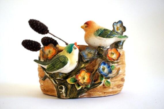 Antique Bird's Nest Vase made in Occupied Japan