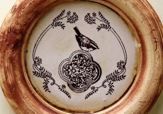 Bird Drawing - Ceramic Wall Hanging