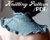 Knitting Pattern-- 'First Snow Collar' neck warmer / scarflette PDF document / instant digital download
