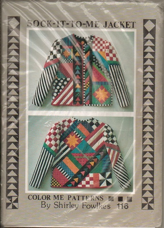 Sock It To Me quilted jacket pattern Wearable Art Sizes 8 through 18, number 116, Shirley Fowlkes