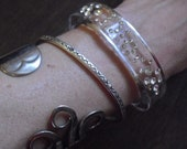 Vintage Dior Lucite and Rhinestone Bracelet As Is