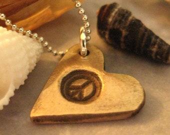 Personalized Bronze Heart