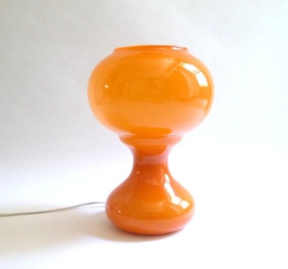 Mod Orange Cased Glass Lamp