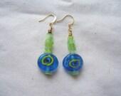 Blue Eyed Green Earrings