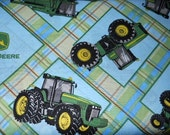 MadieBs  Blue and Green John Deere Crib Sheet  Custom