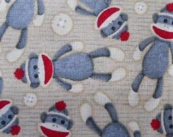 MadieBs Cute Sock Monkey Custom Pillowcase w/Name