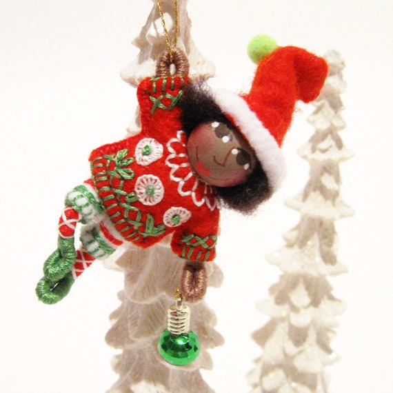 Handmade Christmas Elf Ornament