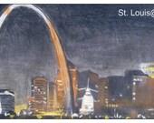magnet, St Louis, Arch, city skyline