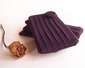 Bridesmaid Gift Clutch, Bridal Wedding Clutch Pouch Purse, cosmetic bag clutch purse, Purple Plum Rose
