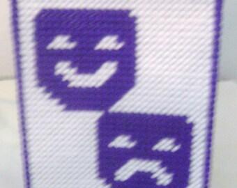 Tissue Box Cover Comedy & Tragedy  #888