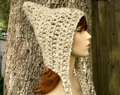 Oatmeal Pixie Hat Chunky Crochet Hat Womens Hat - Oatmeal Hat Womens Accessories Fall Fashion Winter Hat