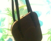 Vintage Sixties Black Fabric Purse Formal By Madison Excellent Condition