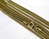 Vintage Brass Mesh Snake Chain Necklaces (4X) (15 Inches) (C519)