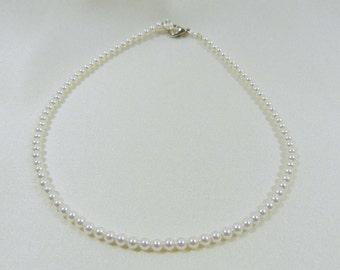 Child's Swarovski White Pearl Necklace