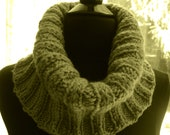 Neck Scarf Cowl,  Olive, Men, Women, Teens