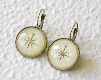 Antique Compass Earrings - Pick Your Design