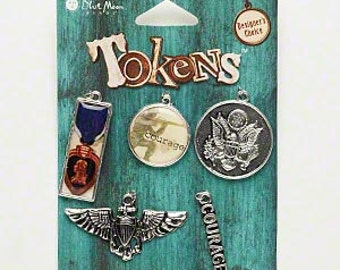 Metal charms for crafts and jewelry making