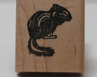 California Lodgepole Chipmunk rubber stamp