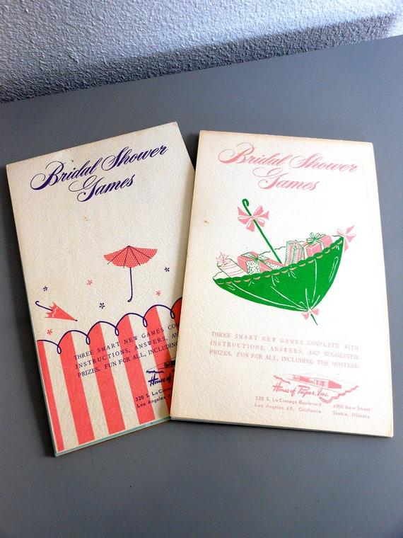 Bridal Shower Game Booklets
