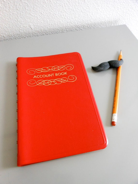 Red Woolworth Account Book for Home or Office