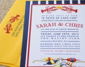 Lobster Rehearsal Dinner Wedding Invitation - Design Fee