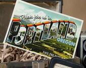 Vintage Large Letter Postcard Save the Date (Portland, Oregon) - Design Fee