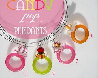CANDY glass pop pendants - debra kallen