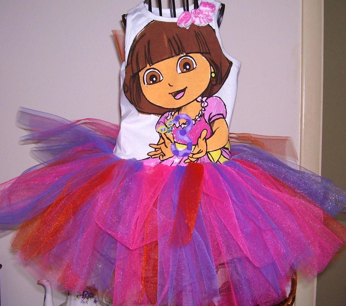 DORA the Explorer 3rd Birthday Tutu Dress by