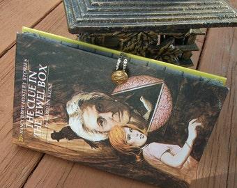 Book Clutch Nancy Drew Clue in Jewel Box Book Purse, Teacher's Gift, Handmade Vintage Purse, Upcycled Book