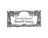 Ex Libris / From the Library for couple of Custom Rubber Stamp - Personalized Library Stamper