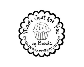 Custom Cupcake Rubber Stamp made just for you