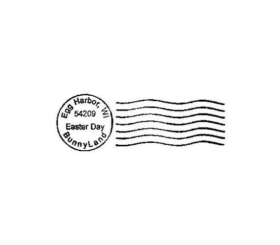 Easter postmark postal cancellation rubber stamp