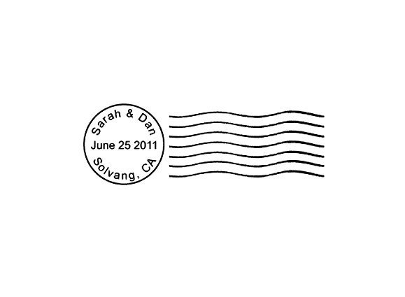 Postmark Mail Art custom Rubber Stamp cancellation save the
