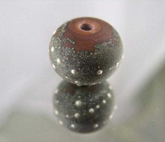 Organic Coral with Silver - Lampwork Bead (1) - Libelula Designs, SRA