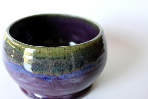 Striped Bowl // Purple, Blue and Green