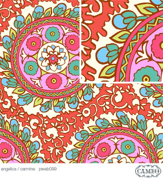 Amy Butler Cameo, Angelica Carmine Fabric - By the Yard