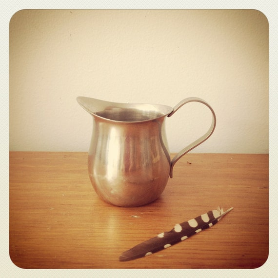 Vintage Stainless Steel Mini Pitcher - Creamer