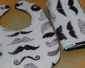 Baby Bib and Burp cloth Mustache baby boy or girl burp cloth Free Shipping to the U.S. on orders over 35.00