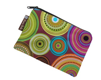 Catch All Bag holds chargers - cords - make up - collections - hard drives - Bohemian Jewels Fabric