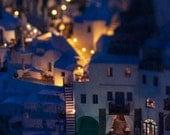 Night Lights - Oia - Santorini - Greece - Photography - Picture - Photo - Image - Decor - Fine Art Photography