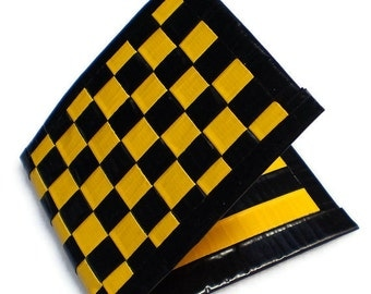 Duct Tape Wallet - Yellow & Black