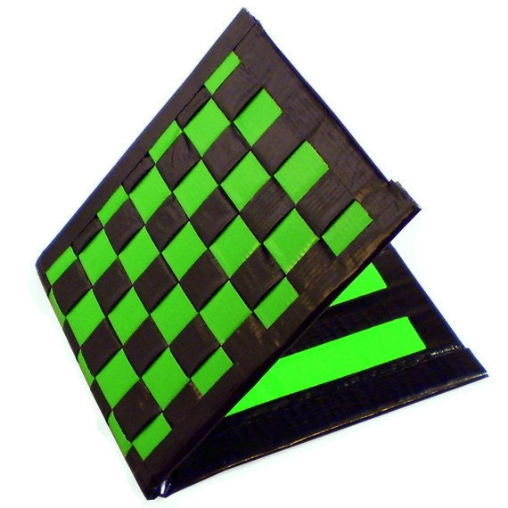 Duct Tape Wallet - Lime Green & Black