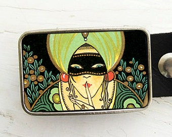 Fortune Teller Belt Buckle, Halloween