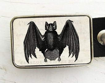 Vintage Bat Belt Buckle