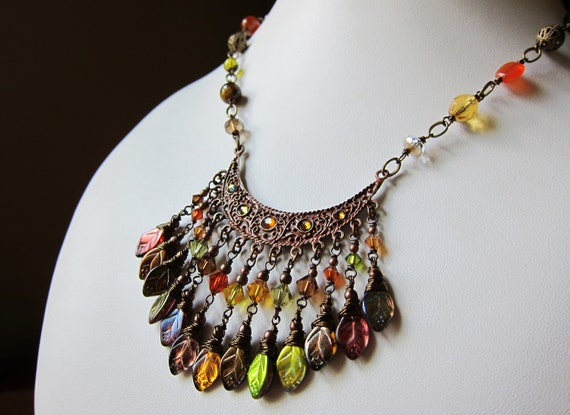 The Silk Road Necklace in Shades of Autumn