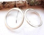 Recycled Silver Medium Circle Hoop Earrings