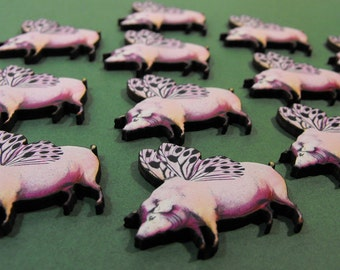 Wooden Flying Pigs