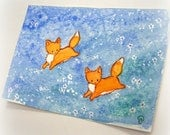Fox Fields 9 - An Original Miniature Watercolor Painting