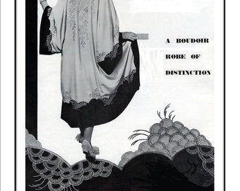 1930s Kimono Wrap Vintage Sewing and Embroidery pattern pdf